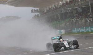 Hamilton pips Vettel in rain-hit qualifying