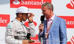 Lewis Hamilton and David Coutlhard
