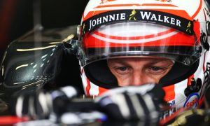 Button sees the funny side of 25-place penalty