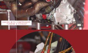 Exclusive pictures of the Ferrari power unit