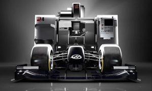 Grosjean shakes down new Haas in simulator