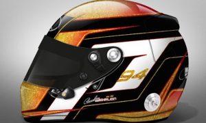 Wehrlein unveils new helmet design for F1 debut
