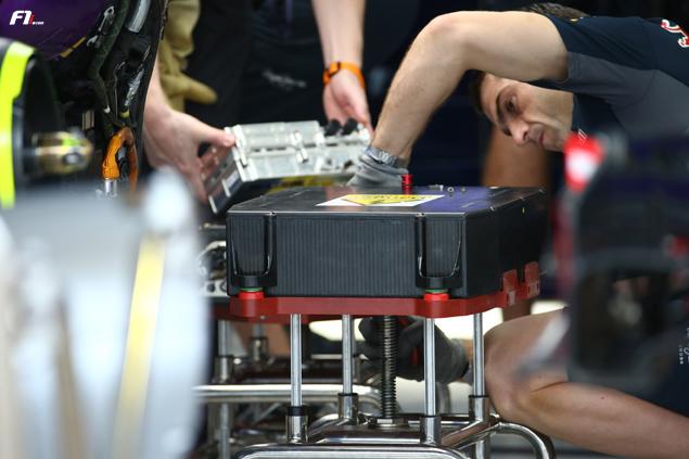 La batterie du V6 Renault Energy F1 (2015)