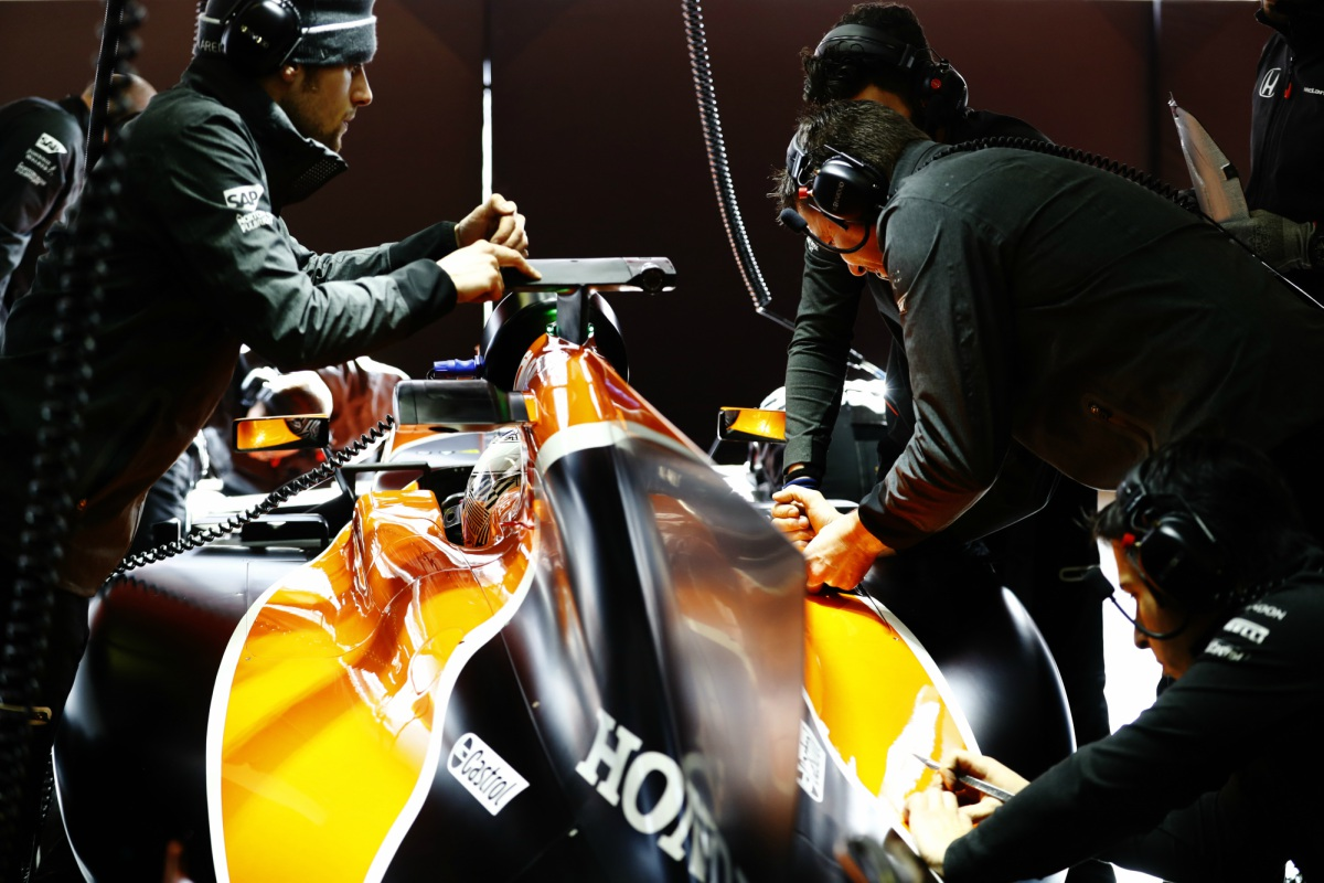 McLaren-pit
