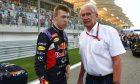 Daniil Kvyat and Helmut Marko, Red Bull