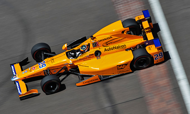 Fernando Alonso, McLaren, Andretti Autosport - in the IndyCar Indianapolis 500 May 2017