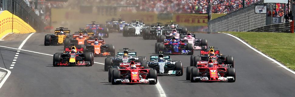 Start of the 2017 Hungarian Grand Prix