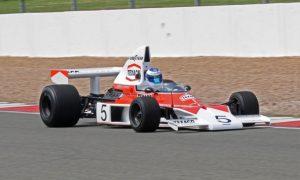 Hakkinen saddles McLaren M23 at Monterey