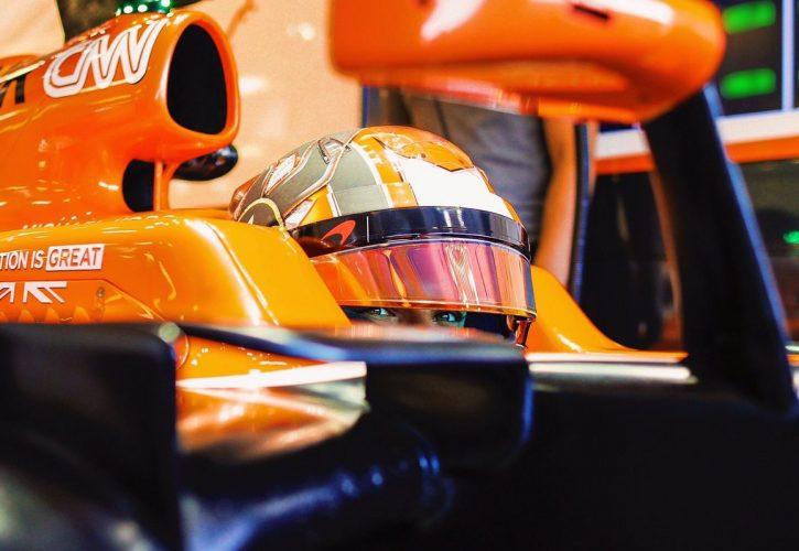 McLaren's official test and reserve driver Lando Norris.