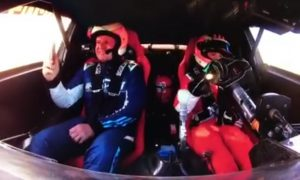 Video: Barrichello goes for an emotional ride with his son