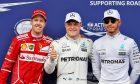 Sebastian Vettel, Valtteri Bottas, Lewis Hamilton vying for the 2017 world championship