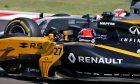 Nico Hulkenberg (Renault), Kevin Magnussen (Haas F1) clash in the Hungarian Grand Prix