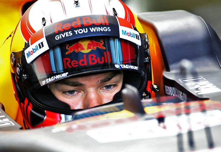 Pierre Gasly, testing with Red Bull at the Hungaroring - Wesnesday August 2 2017