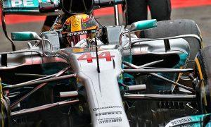 Hamilton finishes Friday fastest in rain-curtailed FP2