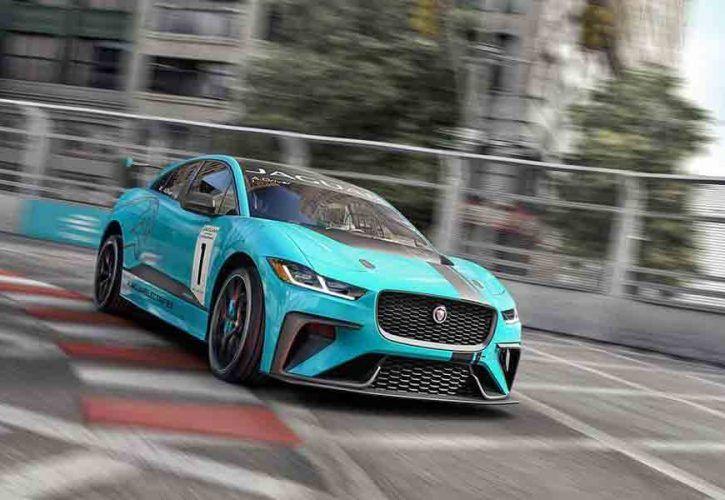Jaguar's five-seat I-PACE electric SUV sports car.