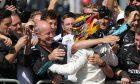 Lewis Hamilton, Mercedes, celebrates after winning Italian Grand Prix