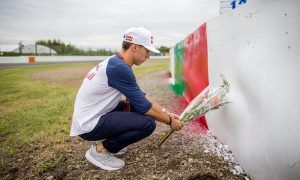 An emotional moment of pause for Pierre Gasly