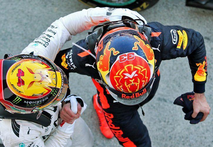 Lewis Hamilton, Max Verstappen - Japanese Grand prix