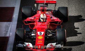 Vettel keeps Ferrari on top in morning run in Abu Dhabi