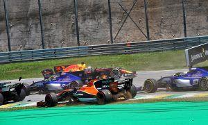 Turn 2 three-way clash in Brazil deemed 'racing incident'