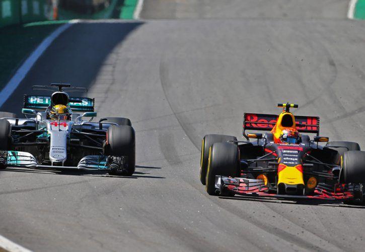 Lewis Hamilton (Mercedes) and Max Verstappen (Red Bull), 2017 Brazilian Grand Prix