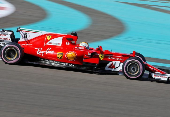 Sebastian Vettel, Ferrari, Yas Marina test, Pirelli