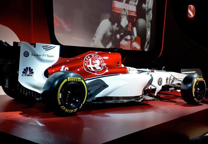 Sauber's new Alfa Romeo car livery concept for 2018