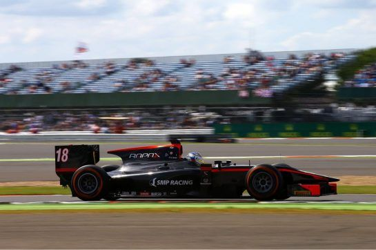 Sergey joined the ranks of GP2 in 2015, driving for Rapax, and achieved his first win in the feeder series at Silverstone's feature race. ©WRI2