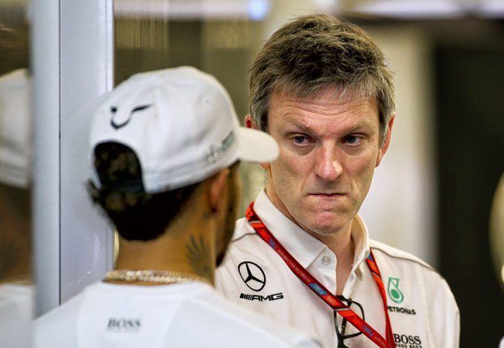 James Allison (Mercedes) with Lewis Hamilton, Australian Grand Prix