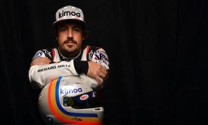 Alonso ready to give the kids a spanking on the banking!