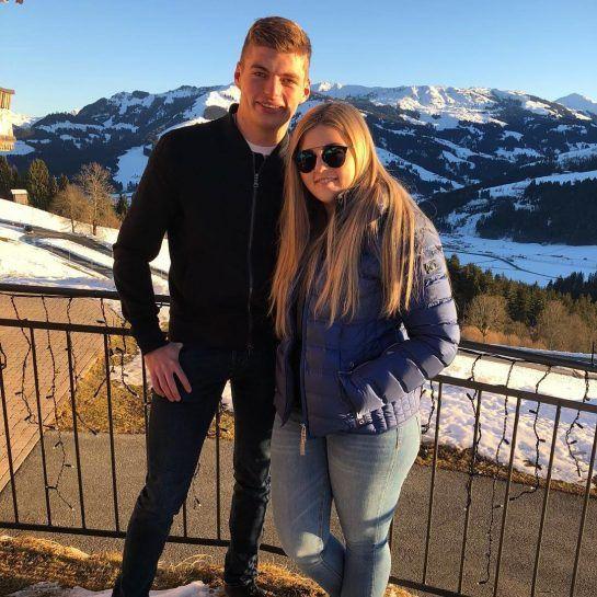 Mav Verstappen and his sister