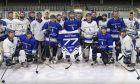 Valtteri Bottas trains with ice hockey team Milton Keynes Lightning