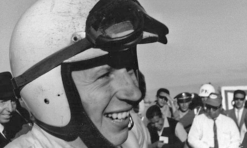 John Surtees at the 1964 Mexico Grand Prix.