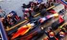 Daniel Ricciardo (AUS) Red Bull Racing RB14 practices a pit stop.