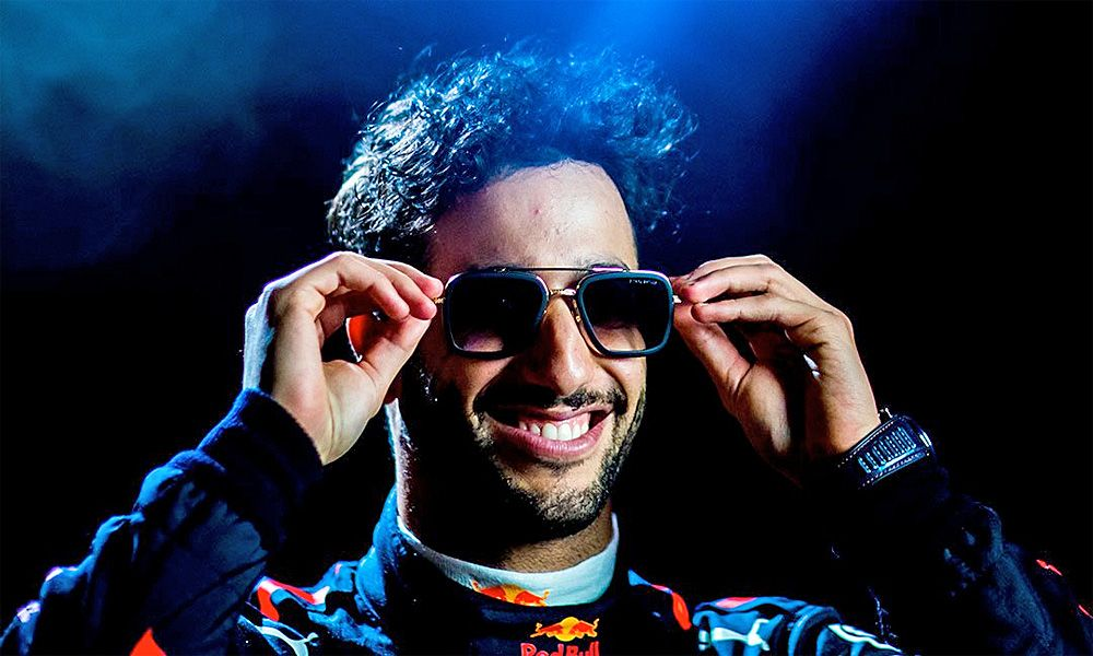 Red Bull's Daniel Ricciardo - DITA Eyewear promotional shot.
