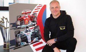 Bottas hangs up a reminder of what it's like to lead and win