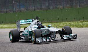Mercedes' Aldo Costa takes his own design for a spin!