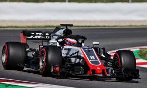 Haas' Grosjean leads the morning field in Barcelona