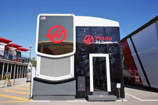Haas F1 Team motorhome.