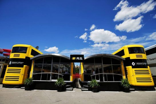 Renault Sport F1 Team motorhome.