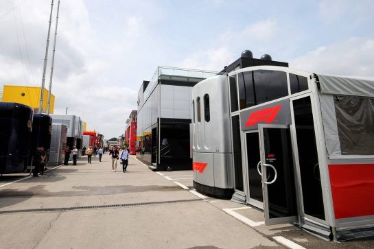 F1 motorhome.