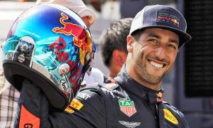 Daniel Ricciardo (AUS) Red Bull Racing celebrates his pole position for the Monaco Grand Prix