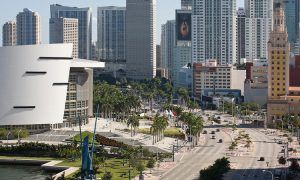 Downtown Miami - Biscayne Boulevard, Freedom Tower and American Airlines Arena