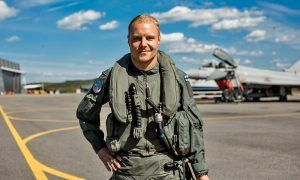 Valtteri Bottas takes to the skies with the Finnish Air Force.