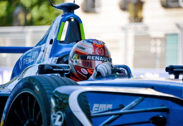 Nicolas Prost, Renault e.dams, racing in the ABB FIA Formula E Zurich ePrix