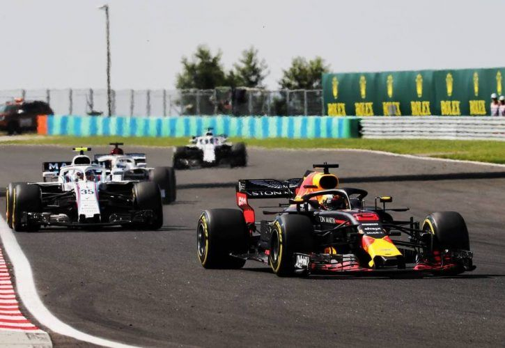 F1 Daniel Ricciardo leads the way in Hungarian Grand Prix practice