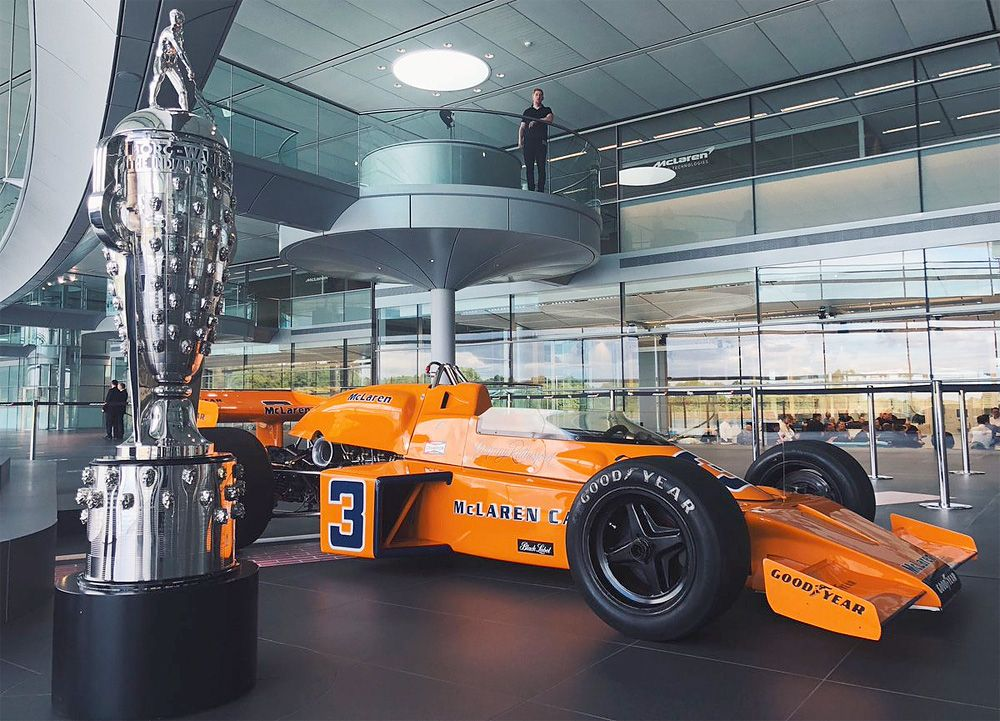 Johnny Rutherford's Indy 500-winning McLaren M16, back at the MTC