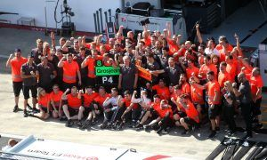 Gene Haas keeping his team's excitement in check
