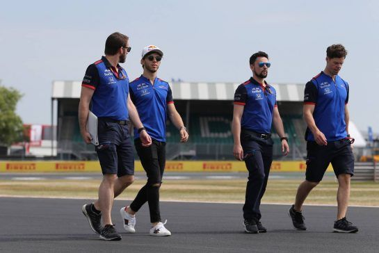 Pierre Gasly (FRA) Scuderia Toro Rosso 05.07.2018. Formula 1 World Championship, Rd 10, British Grand Prix, Silverstone, England, Preparation Day.- www.xpbimages.com, EMail: requests@xpbimages.com - copy of publication required for printed pictures. Every used picture is fee-liable. © Copyright: Charniaux / XPB Images