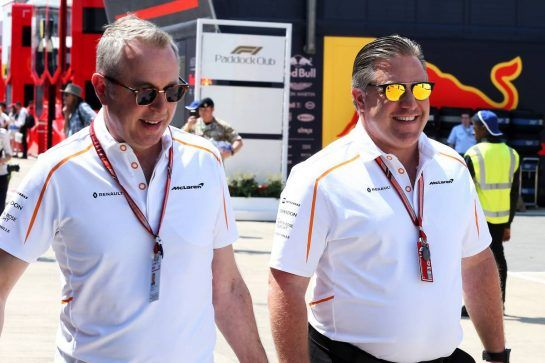 Zak Brown (USA) McLaren Executive Director (Right). 05.07.2018. Formula 1 World Championship, Rd 10, British Grand Prix, Silverstone, England, Preparation Day. - www.xpbimages.com, EMail: requests@xpbimages.com - copy of publication required for printed pictures. Every used picture is fee-liable. © Copyright: Photo4 / XPB Images